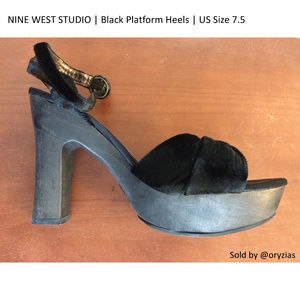 Nine West Studio | Black Platform Heels | Size 7.5